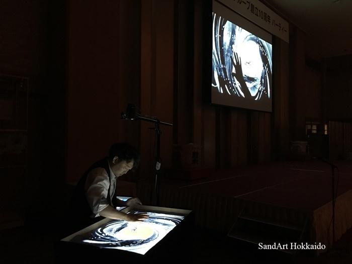 【福岡中州】如水グループ様10周年記念サンドアートライブが終了!