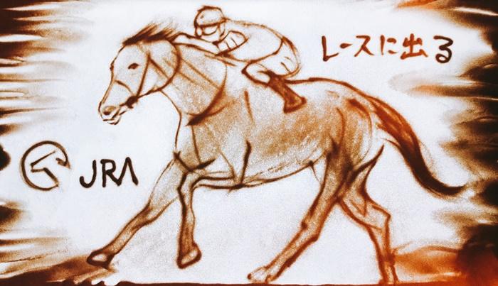 大阪梅田ビックマン前広場でサンドアートパフォーマンス